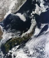 Satellite view of Japan