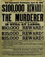 Vintage Civil War wanted poster