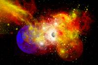 A dying star turns nova as it blows itself apart