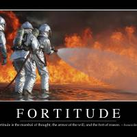 """Fortitude Inspirational Quote and Motivational Po"" by StockTrek Images"