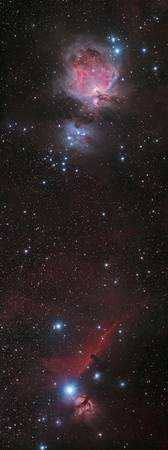 Mosaic of Orion Nebula and Horsehead Nebula