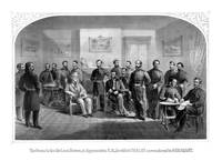 Civil War print of General Lee surrendering his Co