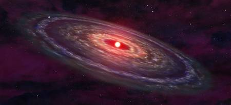 Artists concept of a protoplanetary disk