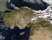 Satellite view of Turkey