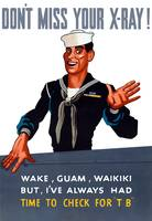 Vintage World War II poster of a sailor waving goo