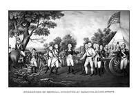 The surrender of British General John Burgoyne at
