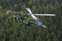 Agusta Westland A109 helicopter of the Swedish Air