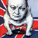 """Vintage World War II poster of Winston Churchill a"" by stocktrekimages"