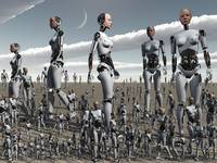 Artist's concept of an abundance of androids with