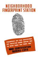 Vintage WPA poster of a fingerprint