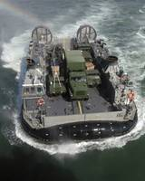 A Landing Craft Air Cushion class hovercraft