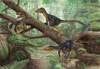 A group of Balaur bondoc in a prehistoric environm