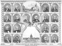 Vintage American history print of the first eighte