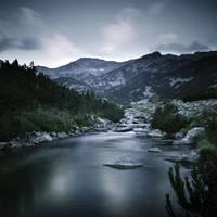 Small river in the mountains of Pirin National Par