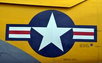 Close-up of the aircraft insignia on an old-fashio