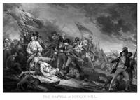 Vintage American Revolutionary War print of the Ba