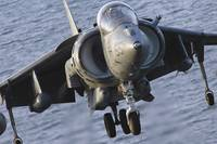 Close-up view of an AV-8B Harrier II