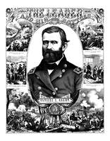 Vintage Civil War poster of General Ulysses S. Gra