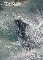 Cloud vortices off Cheju Do South Korea