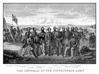 Vintage Civil War print featuring sixteen of The C