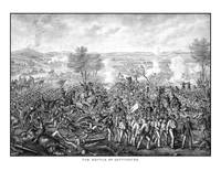 Vintage Civil War print featuring the Battle of Ge