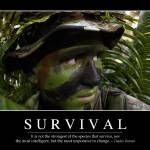"""Survival: Inspirational Quote and Motivational Pos"" by stocktrekimages"