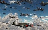 German Heinkel He 111 bombers gather over the Engl