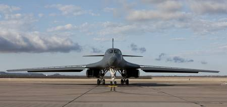 A B-1B Lancer at Dyess Air Force Base, Texas