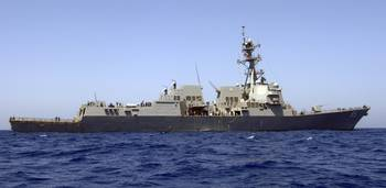 The guidedmissile destroyer USS James E Williams c