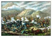 Vintage military print featuring The Battle of Lit