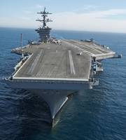 The aircraft carrier USS Carl Vinson in the Pacifi