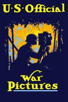 Vintage World War I poster of a soldier filming a