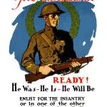 """Vintage World War I poster of an American infantry"" by stocktrekimages"