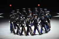 The U.S. Army Drill Team performs precision drills