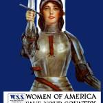 """Vintage World War I poster of Joan of Arc wearing"" by stocktrekimages"
