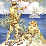 """Vintage World War I poster of two marines signalin"" by stocktrekimages"