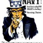 """Vintage World War I poster of Uncle Sam pointing a"" by stocktrekimages"