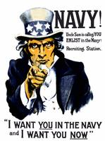 Vintage World War I poster of Uncle Sam pointing a