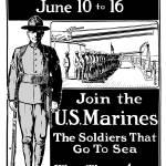 """Vintage World War I poster showing a Marine standi"" by stocktrekimages"