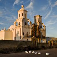 San Xavier at Sunset Art Prints & Posters by Eric Vondy