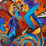 """Jazz Musicians Art Music Decor"" by JuleezArt"