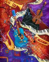 Jazz Music Instruments Colorful Art Juleez