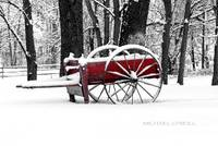 RED WAGON B&W