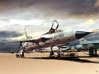 F105FlightLinePainting48x36