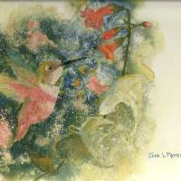 music in his wings Art Prints & Posters by Joan  L. Mester