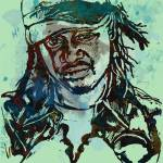 """T-pain Faheem Rasheed Najm Stylised Etching Pop Ar"" by visualharbour"
