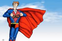 Daddys Home Superman Dad