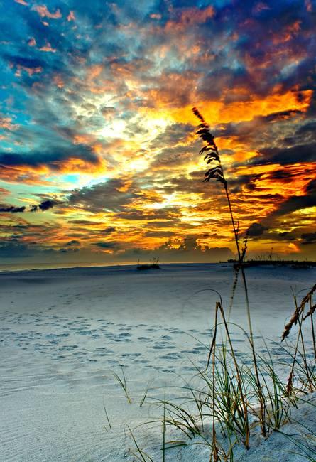 fiery glow burning sunset - photo #33