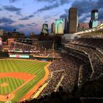 """Minneapolis Skyline Photography Target Field"" by WaynePhotoGuy"