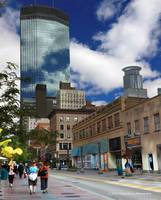 Minneapolis Skyline Photography Nicollet Mall
